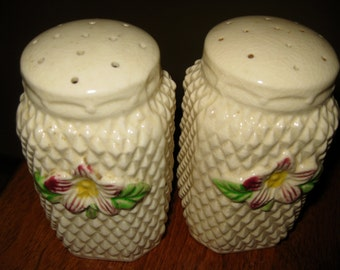 50% Off Antique Salt Pepper Shakers with raised design