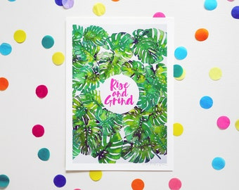 RISE & GRIND *NEW*/ Signed print by Niki Pilkington