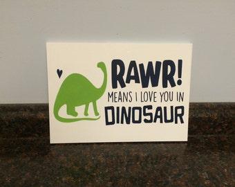 dinosaur nursery rawr means i love you in dinosaur green and navy dinosaur toddler room wood sign boy nursery baby boy dinosaur wall decor