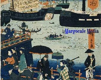 Japanes Woodblock Print No. 2 Digital Download JPG Image
