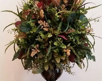 Snap extra large traditional transitional fall floral arrangement extra large silk floral arrangement transitional contemporary mightylinksfo