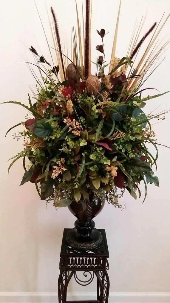 Large Foyer Floral Arrangements : Extra large traditional transitional silk floral arrangement