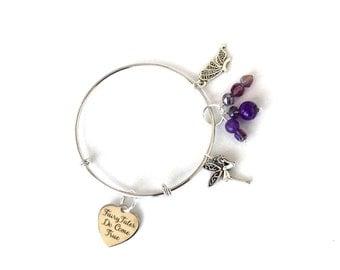 Inspirational bangle/bracelet,  fairytales do come true bangle/bracelet