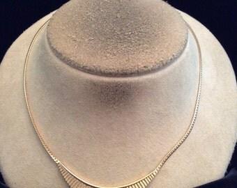 Vintage Signed Avon Goldtone Necklace