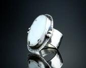 White Buffalo Ring, Size 7 1/4