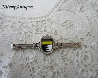 Vintage enamel tie clip/bar