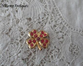 Four leaf clover brooch 1930's
