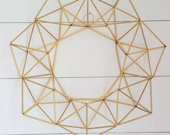 Gold Geometric Wreath