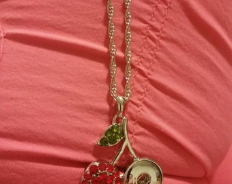 Cute Cherry snap necklace