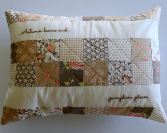 Autumn Leaves Pillow Cover ~ Fall Pillow Cover ~ Seasonal Pillow Cover