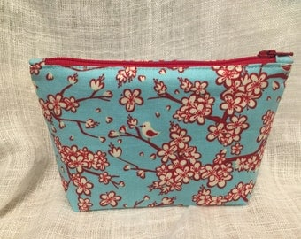 Small Cherry Blossoms Zipper Clutch