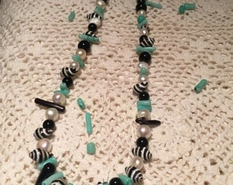 Beaded Jewelry~Pearl Necklace~Summer Jewelry~Necklace~SomethingXquiste Jewelry~Hawaiin Jewelry~Shell Jewelry~Handmade Jewelry~Spring Jewelry
