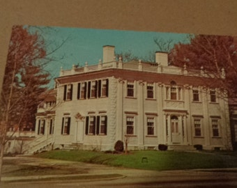 Vintage Original President's Home Williams College Williamstown Massachusetts Postcard Free Shipping