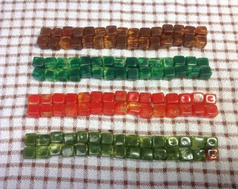 1950s Lucite Cube Beads.