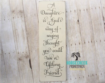 Daughter Gift from Mom or Dad, Daughter Birthday Gift Idea, Girls Room Decor