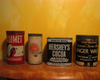 Vintage Collection of 4 Food Tins