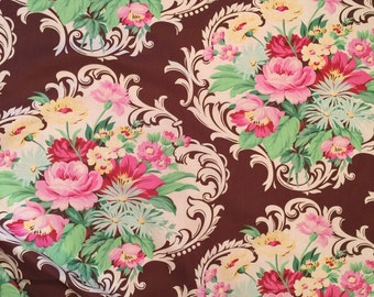 Nicole Mod Girls Jennifer Paganelli Sis Boom Free Spirit Scroll Brown Floral Fabric Sold By The Yard