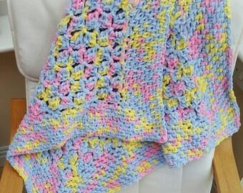 Crochet baby blanket, crib blanket, stroller blanket, pram blanket, car seat blanket, cot blanket, new baby gift, baby shower gift, blanket