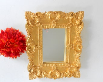 "10""H, Wall Mirror, Decorative Wall Mirror, French Inspired Mirror, Gold Mirror, Decorative Mirror, Gold Wall Mirror,  Item GLM  7005"