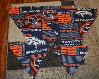 Denver Broncos pet on-collar bandana, pet bandana, Broncos pet, cat bandana, dog bandana, collar bandana