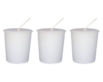 SACRED SAGE Votive Candle Set of 3 Zinzeudo Purification Smudge Cleanse Spell White