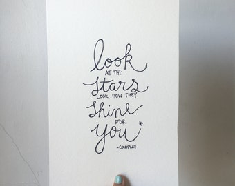 Coldplay Lyrics // Print