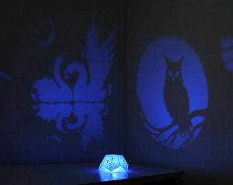 "Night light  projector ""Birds"""