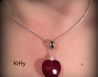 Valentine Red Heart Necklace
