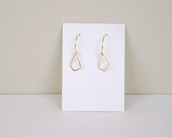 Minimal Facet Earrings. Available in Gold Filled or Sterling Silver.
