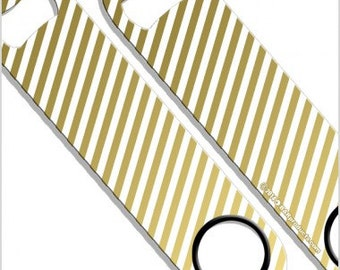 Gold Ombre Stripes Speed Bottle Opener