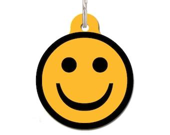 Happy Face Pet ID Tag, Large Pet ID Tag, Small Pet ID Tag, Funny Pet id tag, Face Pet Tag, Custom Pet Tag, Cat id Tag | Free Personalization