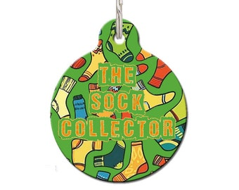 Sock Collector Pet ID Tag | FREE Personalization