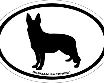 German Shepherd Vinyl Decal Sticker