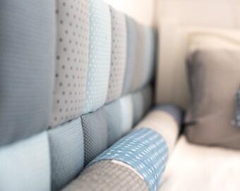 Nursery Tiles Decor, Protective Wall Pillows, Decorative Headboard, Kids Bedding, Nursery Tiles, Blue mix, Baby Boy Blue