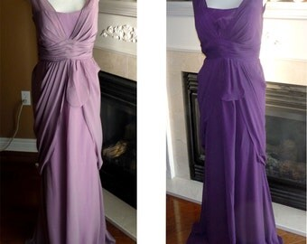 Dusty purple bridesmaid dress, dark purple bridesmaid long dress, prom dress