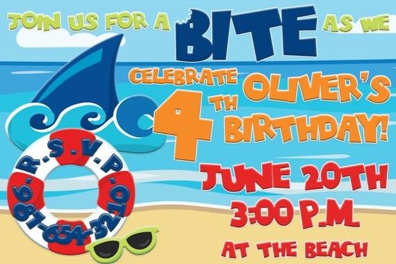 Shark birthday party invitation shark party invitation shark il570xn filmwisefo