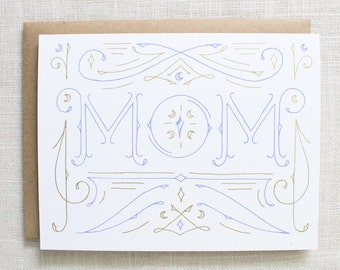 Mom Screen Printed Card