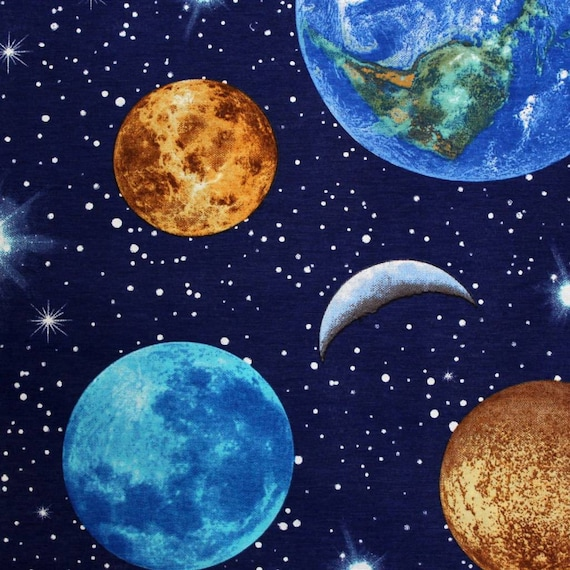Planet earth designer curtain upholstery cotton fabric for Fabric planet