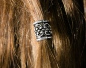 The Jakor Kit SILVER color beard bead dwarf viking biker boho bohemian hair bead