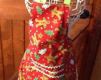 Child size christmas reversible apron