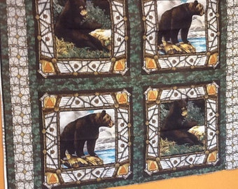 Bears pillow panel