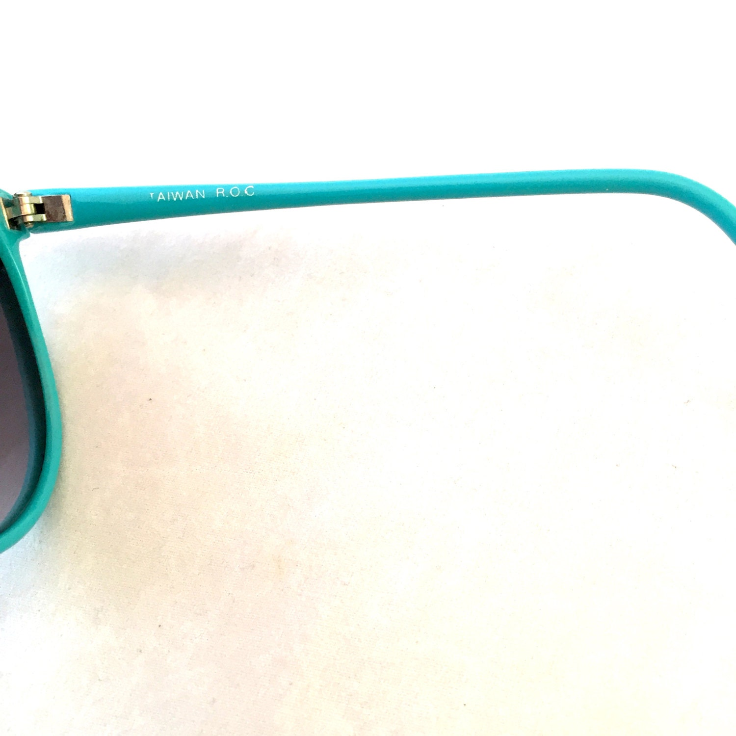 Turquoise Oversized Sunglasses Frames, Large Ombre 80\'s Ladies ...