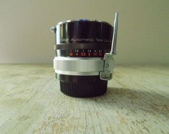 Vintage Vivitar 3x-3 Tele Converter Lens for Nikon or Nikkormat Cameras - Telephoto lens