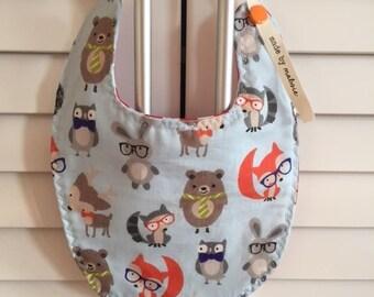 Forest Friends | Rabbit Owl Fox Bear Deer | Reversible Baby Bibs