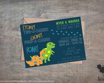 Dinosaur Dig Invitation (25 Invitations)