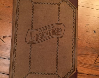 Antique Ledger Book Great Coffee Table Book