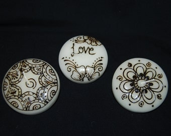 """Set of (3) White 3"""" Floating Candles"""