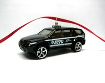 NYPD NYC Police SUV Truck Car Christmas Tree Ornament