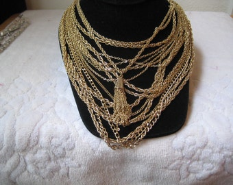 Vintage Crown Trifari Multi Strand Necklace