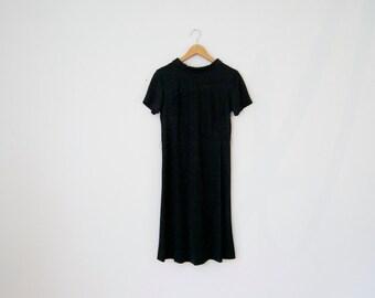60s French Dress - 60s collared dress black short sleeve dress madeline dress 60s mod dress 60s mini dress 60s shift dress twiggy dress